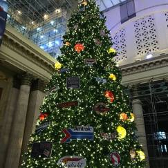 Credit: S.M. O'Connor Caption: This is a Christmas tree in the Great Hall of Chicago's Union Station.
